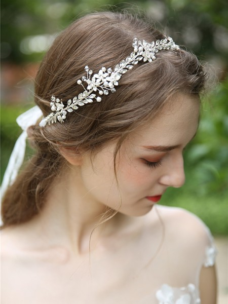 Simple Crystal Casque Mariage