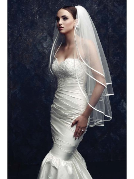 Gorgeous 3 Layer Tulle Voiles de mariage