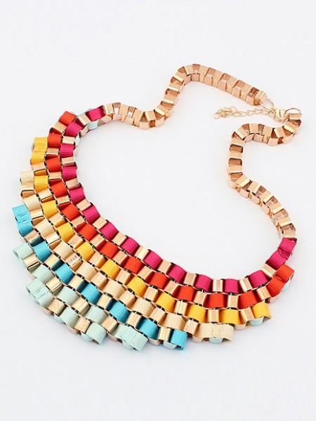 Occident Hyperbolic Colorful Stylish Street shooting All-match Chaud Vente NeckDentelle