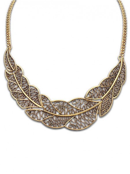 Occident Foreign orders Simple Hollow Tree leaf Chaud Vente NeckDentelle