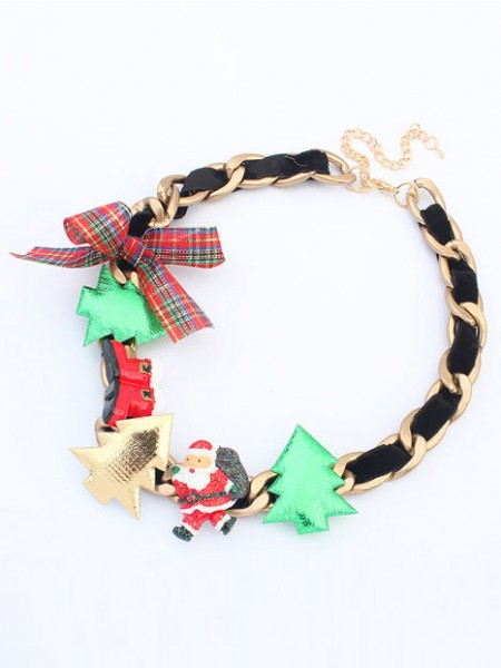 Occident Personality Christmas Series Chaud Vente NeckDentelle