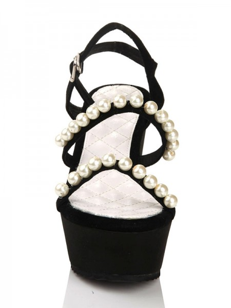 Flock Perles Sandals Wedges