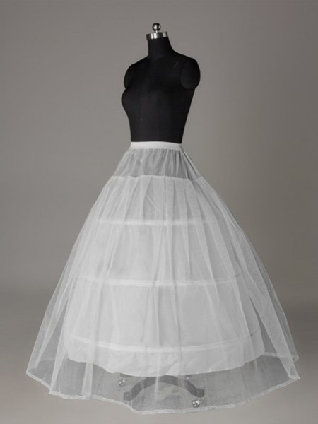 Tulle Netting Ball-Gown 2 Tier Longueueur Sol Slip Style/Jupon De Mariage