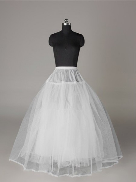 Tulle Netting Ball-Gown 3 Tier Longueueur Sol Slip Style/Jupon De Mariage