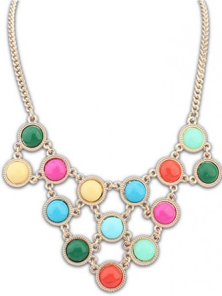 Occident Candy colors Sweet multi-layeRouge Chaud Vente NeckDentelle