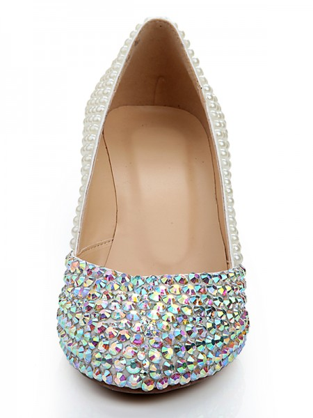 Patent Leather Perles Diamond Wedges